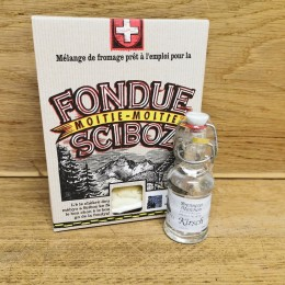 Fondue Moitié-Moitié boite de luxe 500g + Kirsch