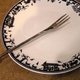 Assiettes fondue  Alpes blanche  4pce.