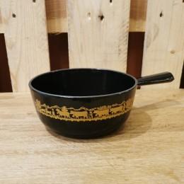 Caquelon à fondue alpage noir 18cm Stöckli